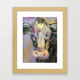 Colorful Cow Framed Art Print