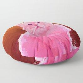 Pink Cat Floor Pillow