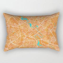 Minsk, Belarus, Gold, Blue, City, Map Rectangular Pillow