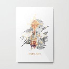 Knight Alice Sword Art Online: Alicization Metal Print