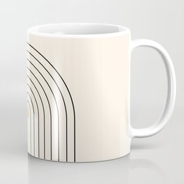 Mid Century Modern Geometric 37 ( Rainbow and Sun Abstraction) Coffee Mug