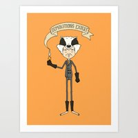badger Art Prints featuring Badger by Derek Eads