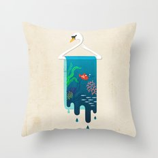 Swan Hanger Throw Pillow