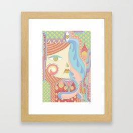 Layla in Pastel Framed Art Print