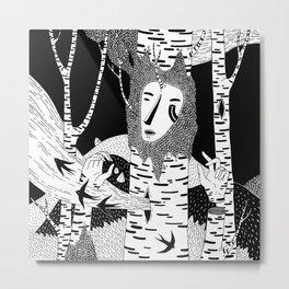 The Birch #A03 Metal Print