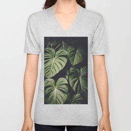 Monstera - Tropical Forest - nature photography Unisex V-Neck