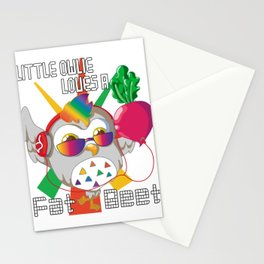 Little Owlie Loves A Fat Beet Owl Gift Stationery Cards
