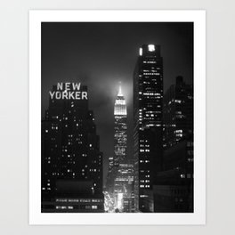 Empire State Building at Night Art Print