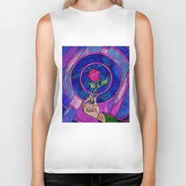 Enchanted Rose Stained Glass Biker Tank