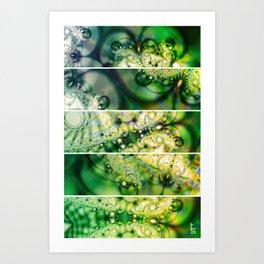 Emerald Universe (Five Panels Series) Art Print