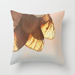 Cluster of lightened leaves Throw Pillow