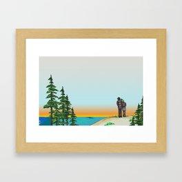 Explore Michigan Lovers Framed Art Print
