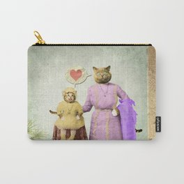 Momma Kitty Loves Her Kitten Carry-All Pouch