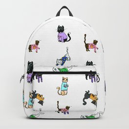 Cats in Cat Sweaters by Abi Roe Backpack