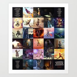 (Fictional) Videogame Heroines ABC Art Print