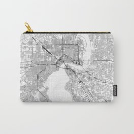Jacksonville White Map Carry-All Pouch