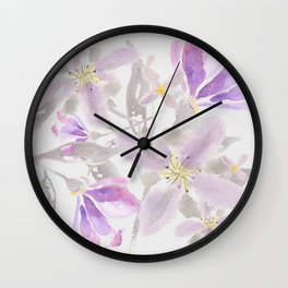 Floaty Floral Wall Clock