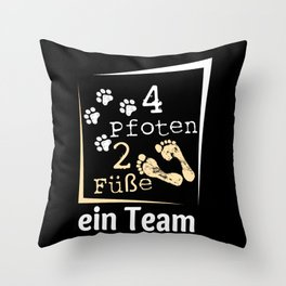 4 Paws 2 Feet A Team Dog Gift Throw Pillow