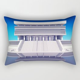 Albany New York State Museum on blue Rectangular Pillow