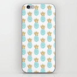 Elegant faux gold pineapple pattern iPhone Skin
