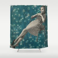 whatever Shower Curtains featuring Whatever by Imogen Art