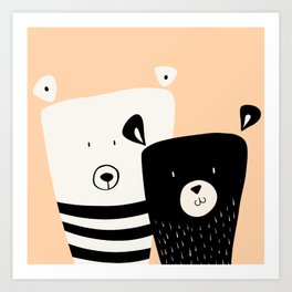 Cute Bears Art Print