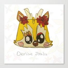 Yellow Deer Canvas Print