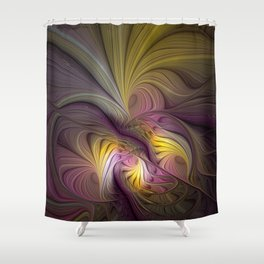 Unity, Abstract Colorful Fractal Art Shower Curtain