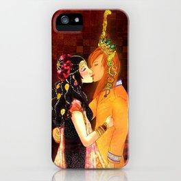 Edith and Jet Mir's kiss iPhone Case
