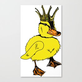 Duck King Canvas Print