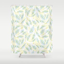 Wind and feathers Shower Curtain