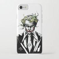 the joker iPhone & iPod Cases featuring Joker. by CJ Draden