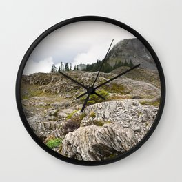 Mountain Washington Hiking Boulder Geology Rocks Trail Outdoors Nature Landscape Northwest Wall Clock
