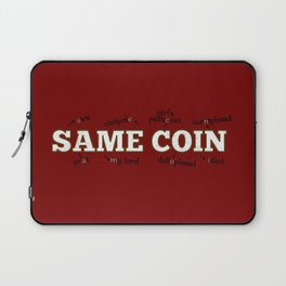 two sides of the same coin Laptop Sleeve
