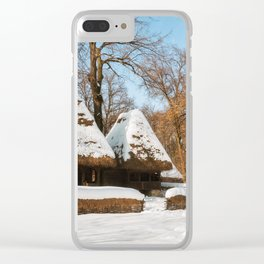 Season Greetings from a picturesque Romanian Village Clear iPhone Case