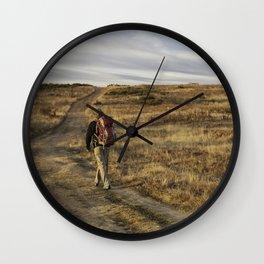 Camino to Santiago de Compostela, Spain Wall Clock
