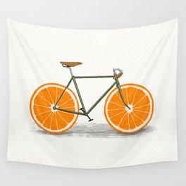Zest (Orange Wheels) Wall Tapestry