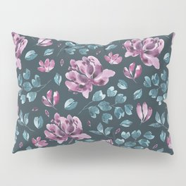 They Only Come Out At Night - Beautiful Abstract Flowers Pillow Sham