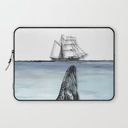 Whale And Boat Laptop Sleeve