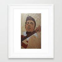 elvis presley Framed Art Prints featuring Elvis Presley  by Andulino