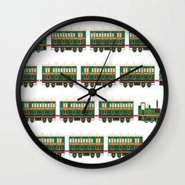 trains pattern transportation Wall Clock