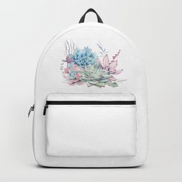 Pretty Pastel Succulents Backpack