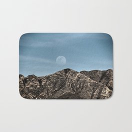 Moon over the Franklin Mountains Bath Mat
