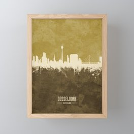 Düsseldorf Germany Skyline Framed Mini Art Print