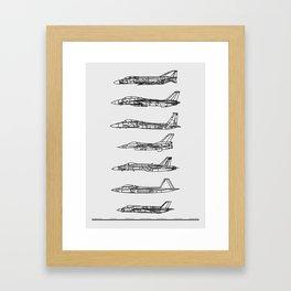 US Fighter Jets Framed Art Print