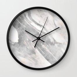 Castello silver marble Wall Clock
