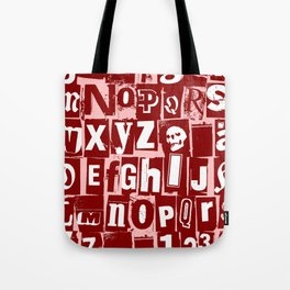 Ransom Letters Tote Bag
