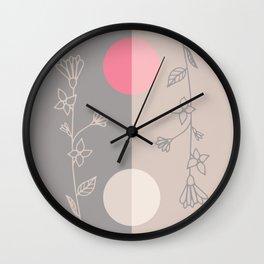 Floral Ellipses Wall Clock