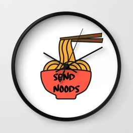 Send Noods Japanese Ramen Noodles Gift Kawaii Anime Print Wall Clock