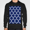Moroccan Blue And White Lattice Grid Design Throw Pillow